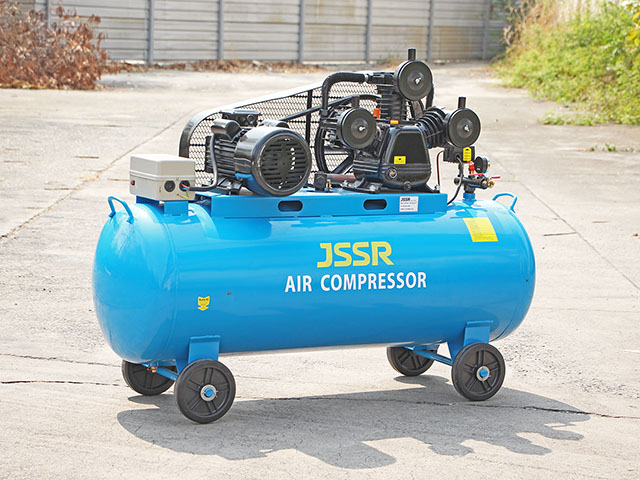 Air compressor ปั๊มลมมอเตอร์ไฟฟ้า ลวดทองแดง 300L 220V 7.5KW 10HP 50x152x102cm JSSR J300-220V