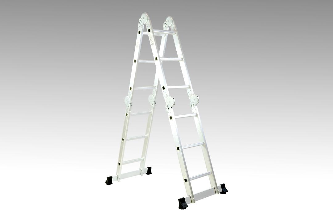 Aluminum ladder บันไดอเนกประสงค์ บันไดอลูมิเนียมพับได้หลายรูปแบบ 26x36x95cm SHIFT SW-403