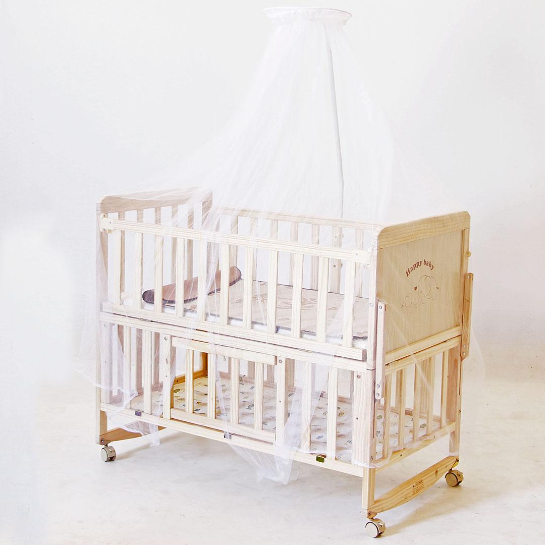 Baby Crib เตียงนอนเด็กเปลไกว เ