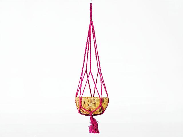 Basket ตะกร้าทำจาก ผักตบชวา ธรรมชาติ ไม่เป็นอัตรายต่อสิ่งแวดล้อม INTERFORM VC-9739PK