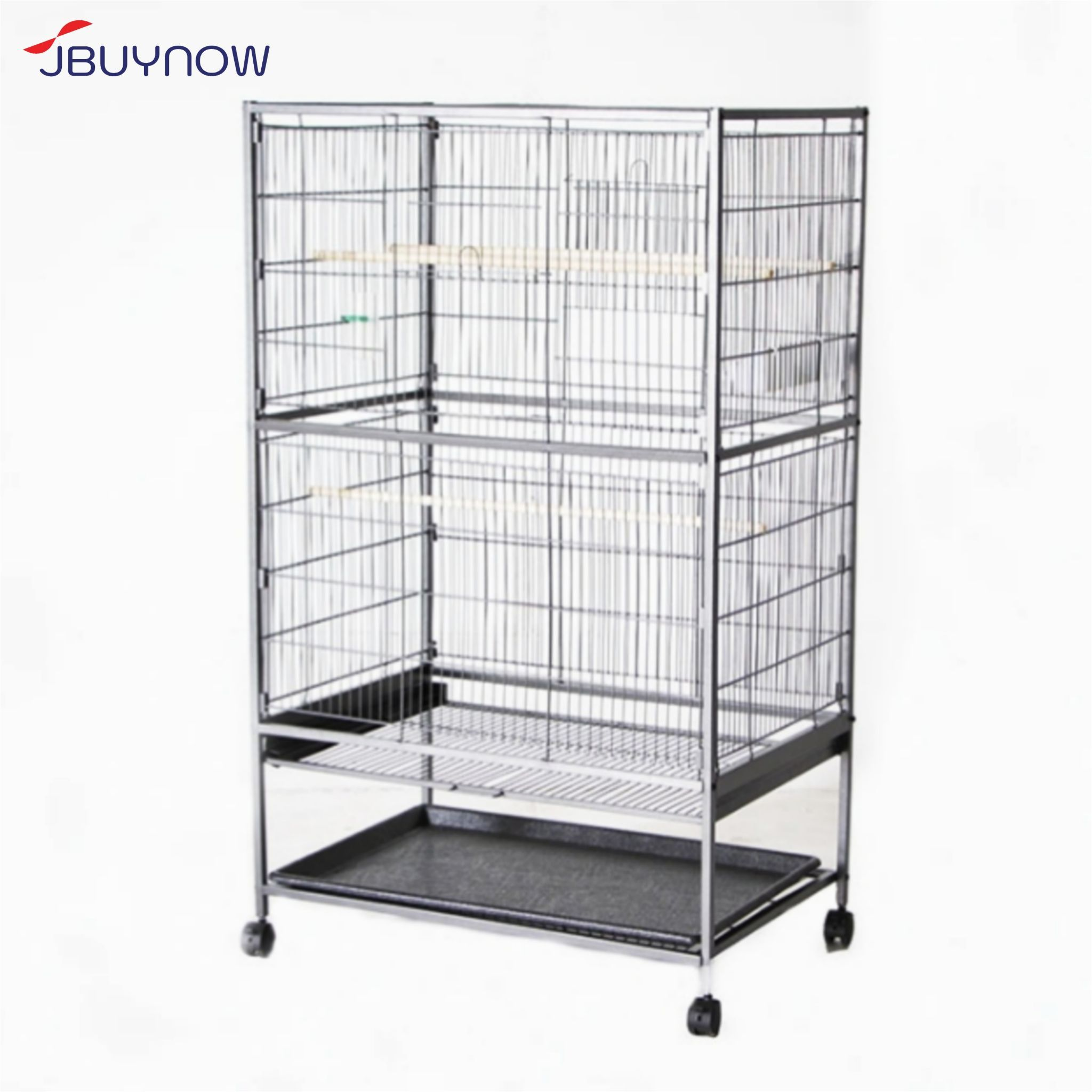 Bird Cage with Wheels กรงนกเหล็กมีล้อ เคลื่อนที่ได้ 78x52x131cm CT-006