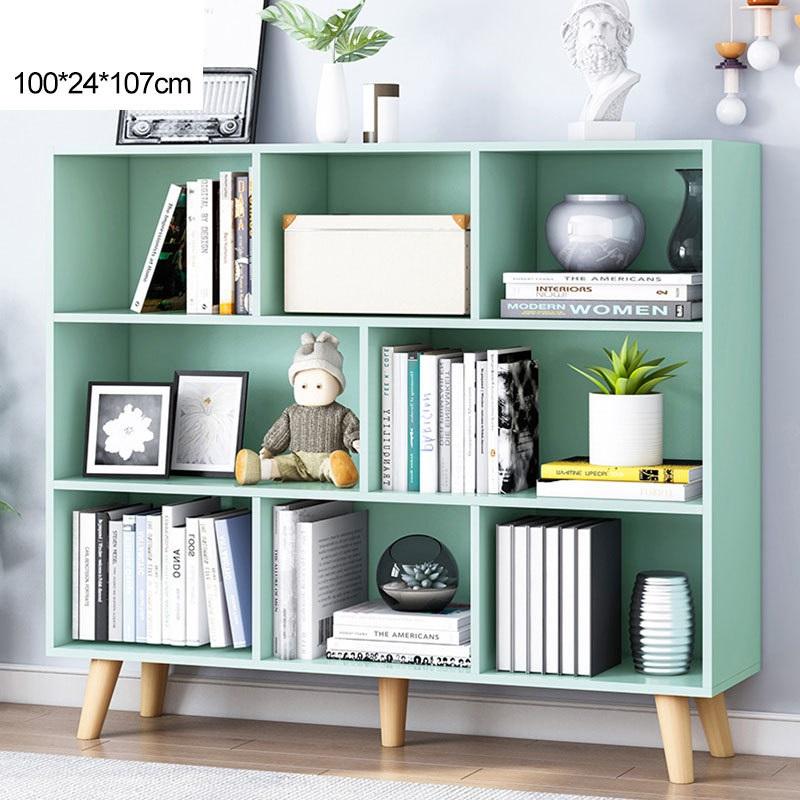 Bookshelf ชั้นวางอเนกประสงค์ ชั้นวางหนังสือ สีเขียว 100x24x107cm ST2134-6BL