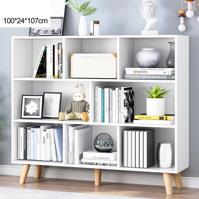 Bookshelf ชั้นวางอเนกประสงค์ ชั้นวางหนังสือ สีขาว 100x24x107cm ST2134-6WH