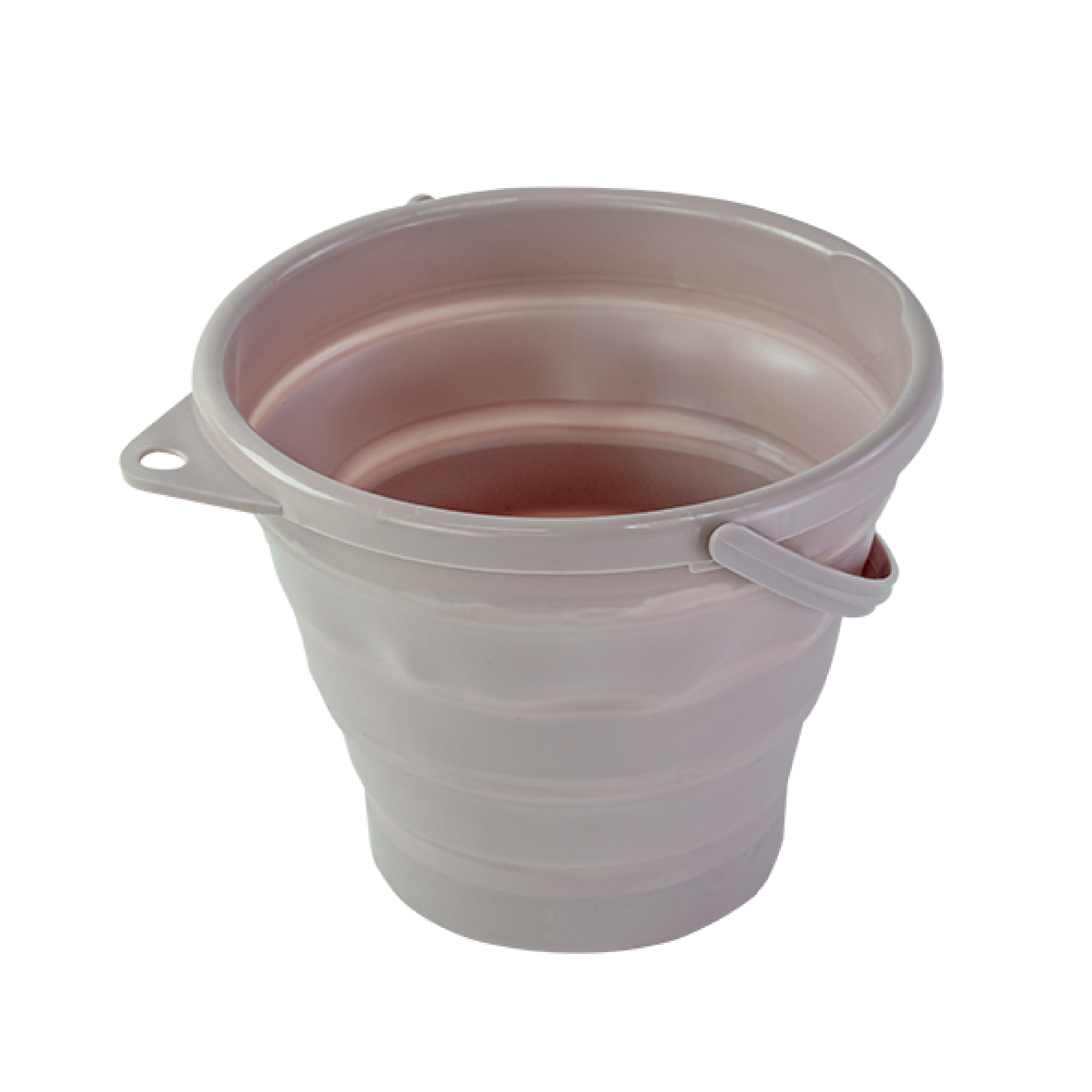 Bucket ถังน้ำพับเก็บได้ ความจุ 10L 33x36x5cm สีม่วง ST210324-10