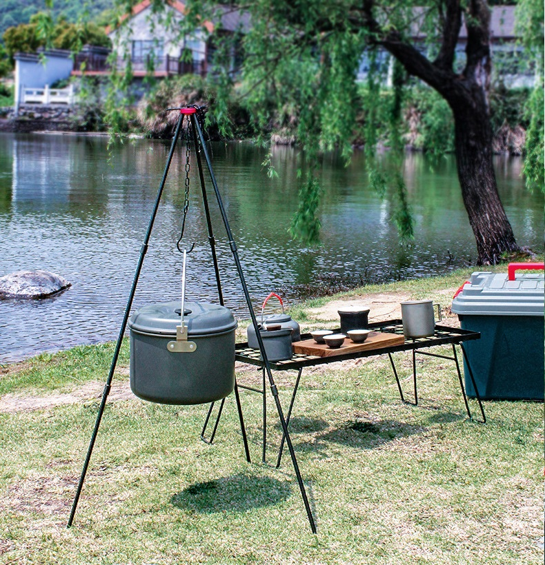 Camping pot hanger tripod ขาตั้งเตาสนามแบบสามขา ความสูง 80 ซม.ST210420-3