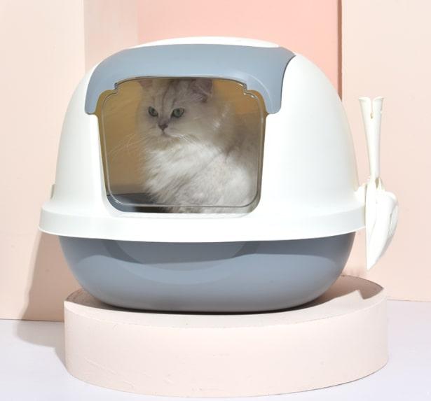 Cat Litter Box ห้องน้ำแมว กระบะทรายแมว 41x52x43cm PT618-11