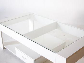 Coffee table โต๊ะกลางหน้ากระจก 120x60x40cm LS4