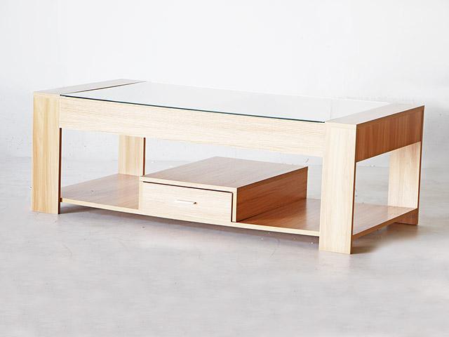 Coffee table โต๊ะกลางหน้ากระจก 120x60x40cm LS1