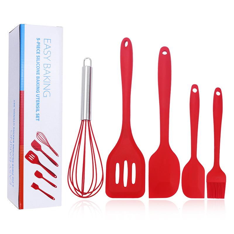 Cooking utensils ชุดอุปกรณ์ทำครัวซิลิโคลน 5 ชิ้น JR0420-81