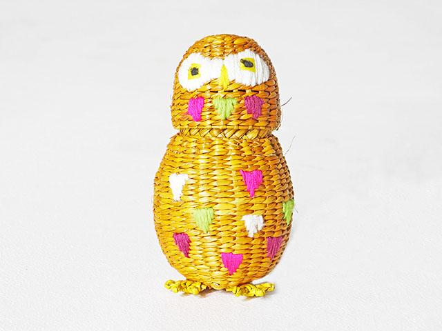 Cute Owl Weave Basket ตะกร้าสา