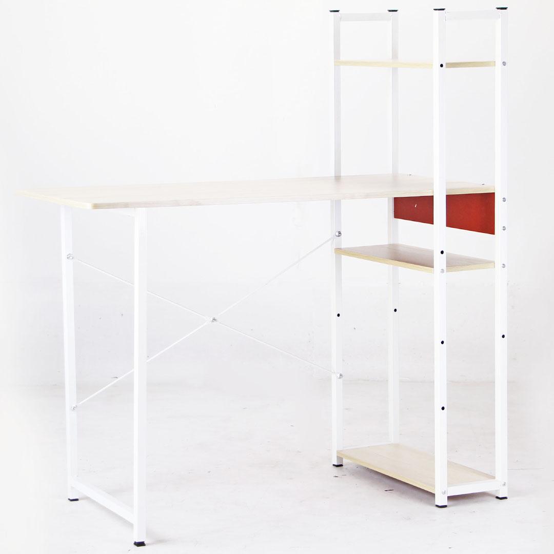 Desk โต๊ะทำงาน โต๊ะคอม DIY มีชั้นวางของด้านข้าง 45x100x110cm FNT FNT-02