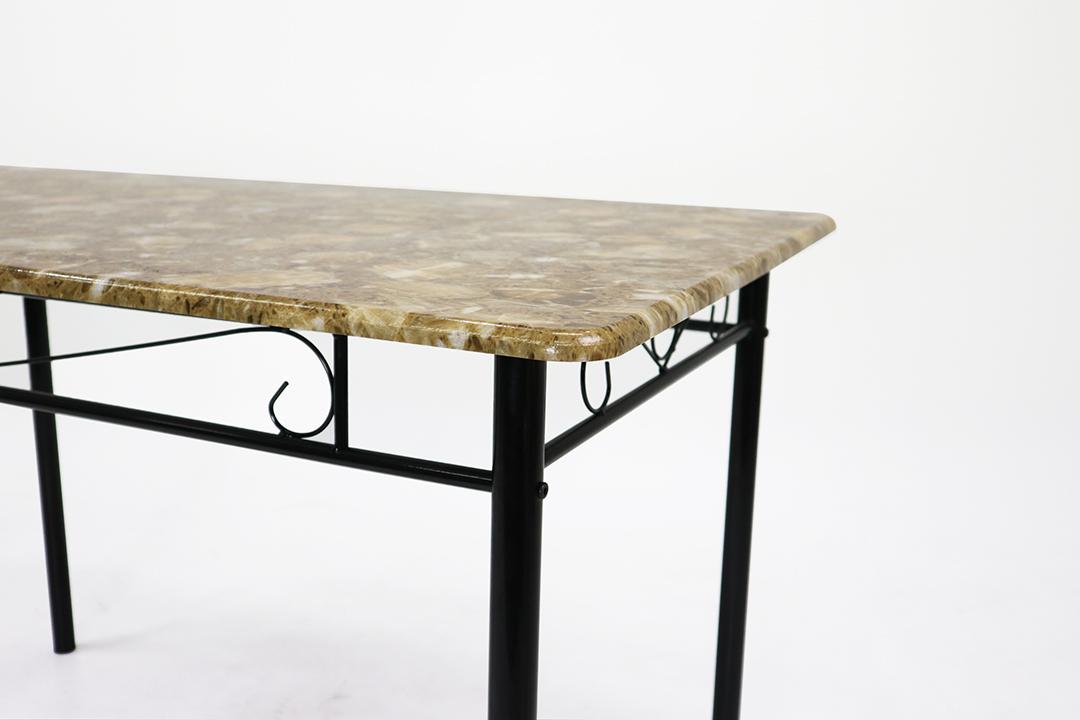 Dining Table ชุดโต๊ะอาหารขนาด 120x70x74 ซม.ลาย Yellow Marble พร้อมเก้าอี้ 4 ตัว รุ่น DSF-024Y