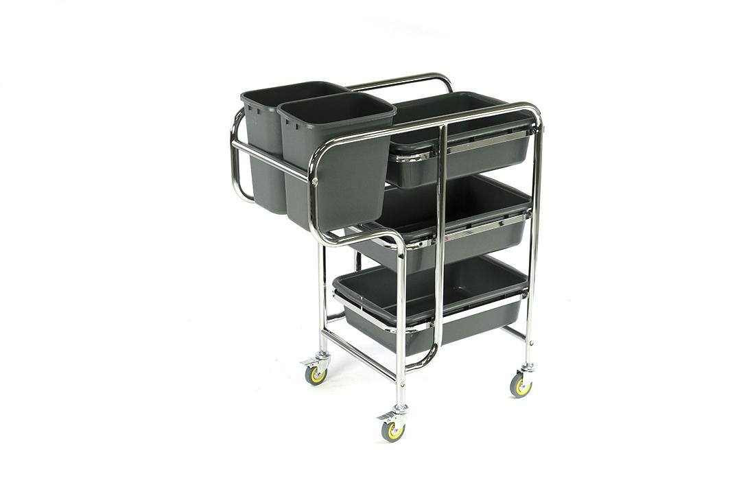 Food waste clearing cart รถเข็นเก็บจาน ขนาด 80x44x93 ซม. รุ่น D-016