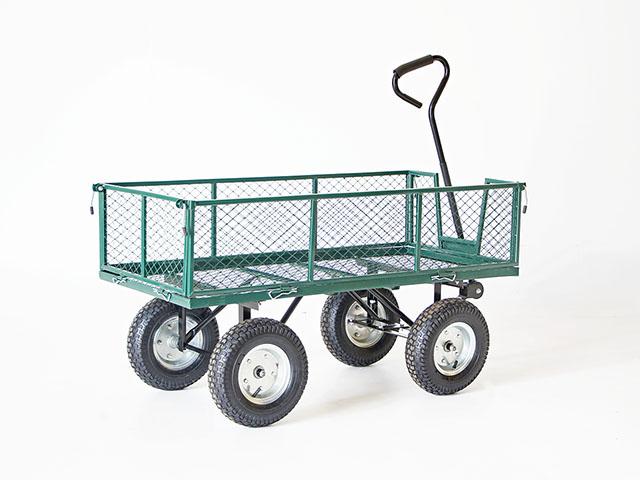 Garden cart รถกะบะเหล็กลากจูง รับน้ำหนักได้ 120kg 120x60x67cm JSSR J1840