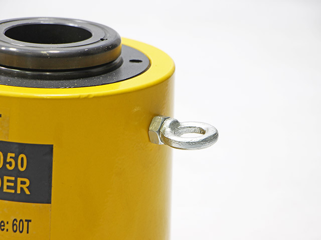 Hydraulic cylinder กระบอกแม่แรงแบบมีรูทะลุแกนกลาง 60ton 50mm 24x20x25cm RCH-6050