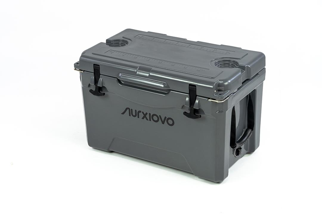 Ice cooler box กระติกน้ำแข็ง ถังแช่อเนกประสงค์ 35 ลิตร สีเทา ST210512-1GL