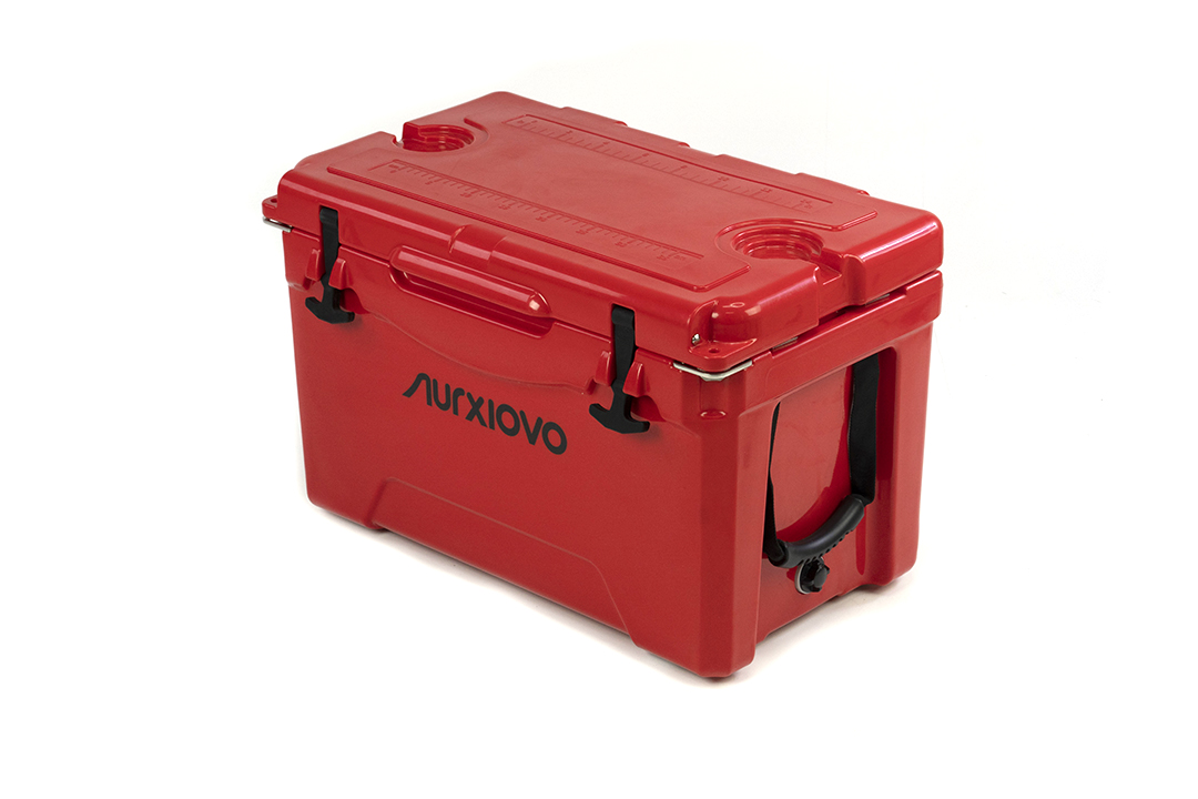 Ice cooler box กระติกน้ำแข็ง ถังแช่อเนกประสงค์ 35 ลิตร สีแดง ST210512-1R