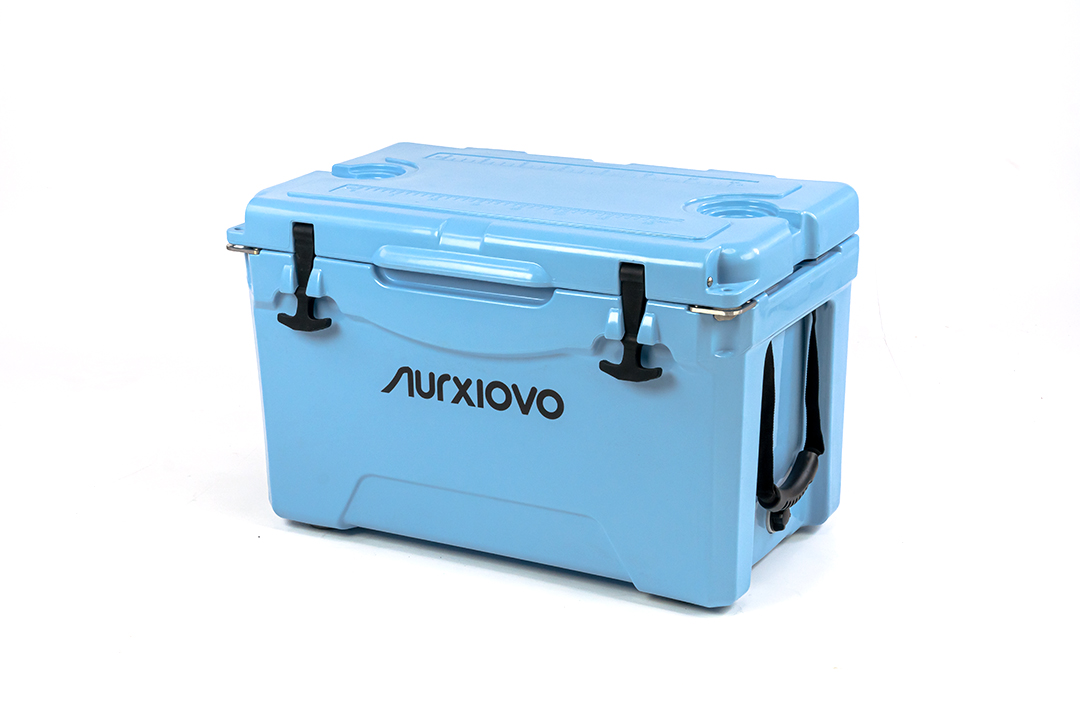 Ice cooler box กระติกน้ำแข็ง ถังแช่อเนกประสงค์ 35 ลิตร สีฟ้า ST210512-1B