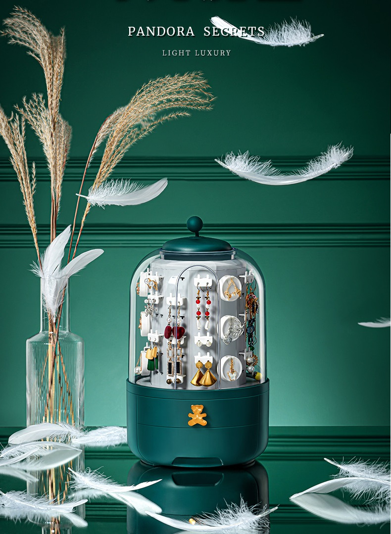 Jewelry box กล่องเก็บต่างหูแบบกันฝุ่น JR0420-22