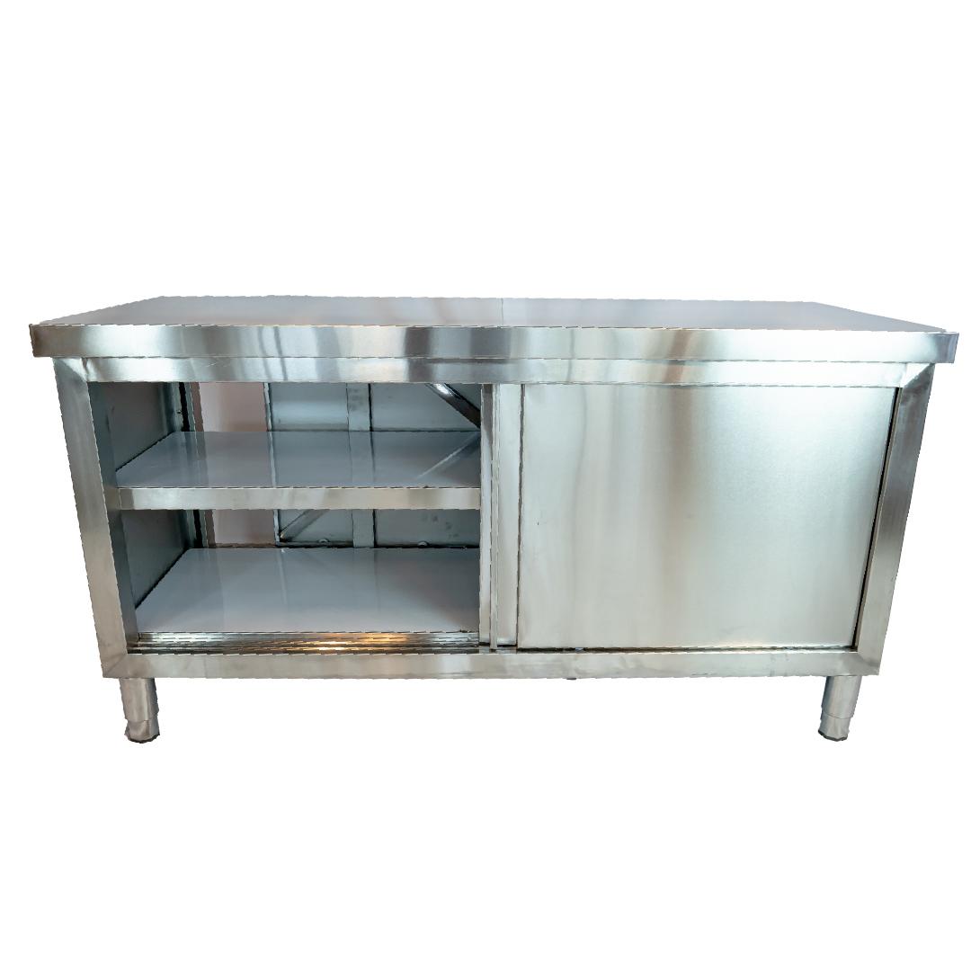 Kitchen table โต๊ะครัวสแตนแลส เกรด 201 60x120x80cm ST201008