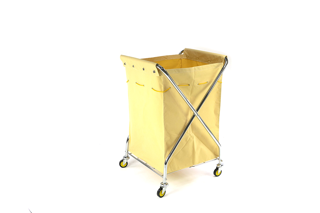 Laundry cart รถเข็นผ้าแบบพับได้ ขนาด 68x59x105 ซม. รุ่น D-027