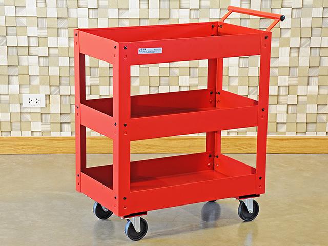Metal Tool Cart รถเข็นเครื่องมือช่างล้อใหญ่ รับน้ำหนักได้ 200kg 71x41x84ซม. JSSR PMT-103RD