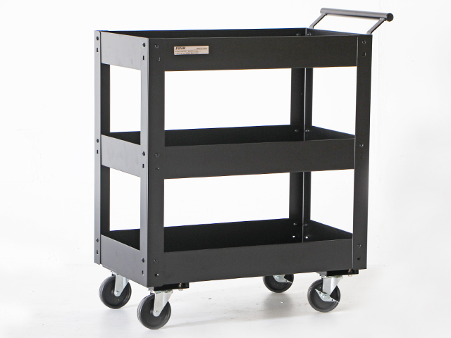 Metal Tool Cart รถเข็นเครื่องมือช่างล้อใหญ่ รับน้ำหนักได้ 200kg 71x41x84ซม. JSSR PMT-103BK