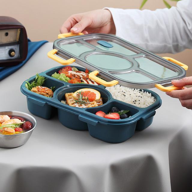 Microwavable lunch box กล่องข้าวเก็บอุณหภูมิแบบ 5 ช่อง JR0420-11