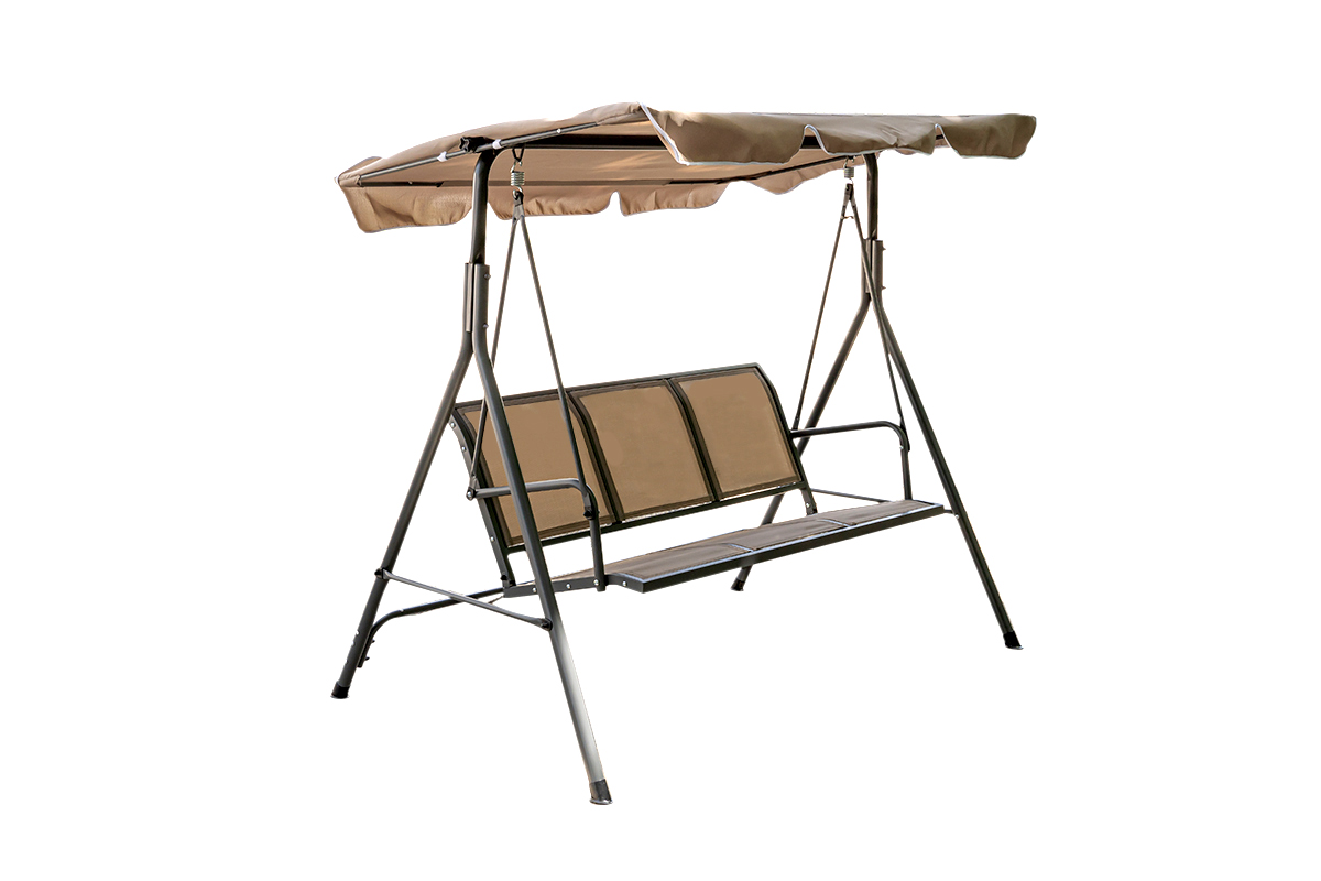 Outdoor Garden Swing เก้าอี้ชิงช้าแบบ 3 คนนั่ง ขนาด 172x112x152cm JSSR SW-007