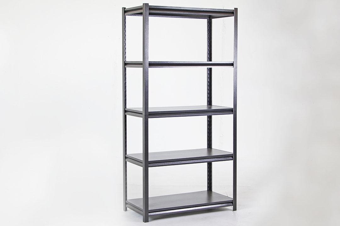 Shelf ชั้นวางของเหล็ก 5ชั้น 150KG/Layer 46x92x183cm สีดำ LS-002