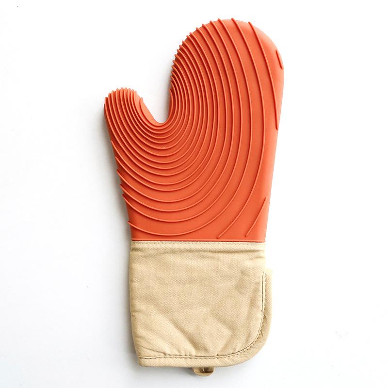 Silicone oven mitt ถุงมือซิลิโคน ทนความร้อนสูง สีส้ม JR0420-59