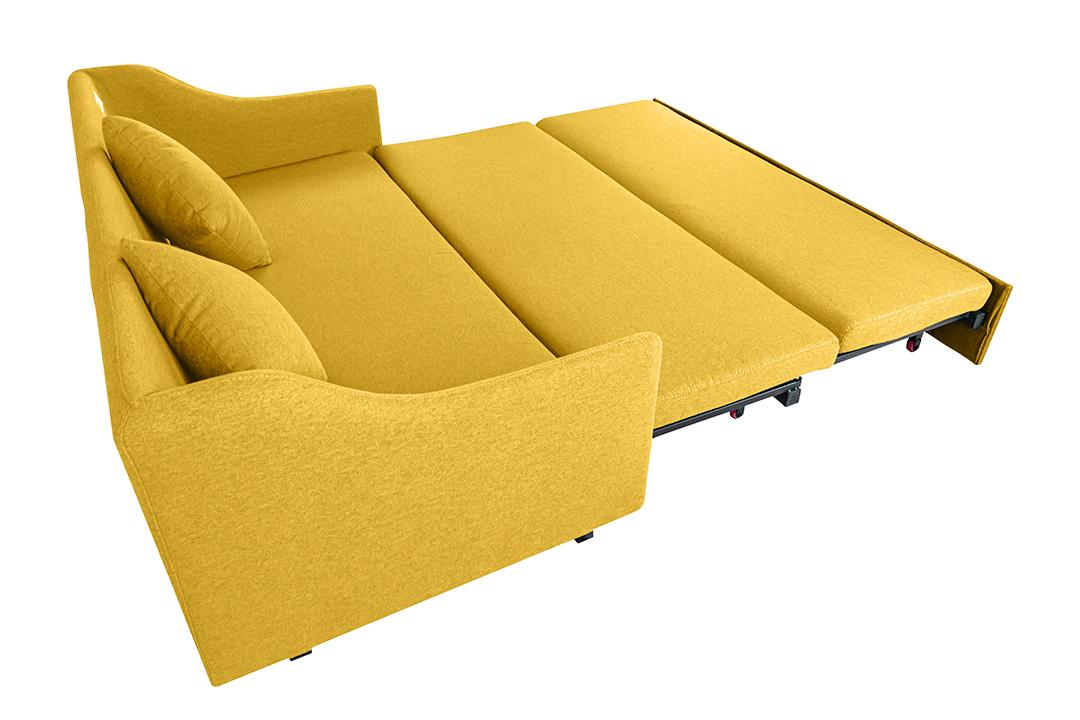 Sofa bed โซฟาเตียง 2ที่นั่ง ผ้าลินิน Sofa (170x90x75cm) Bed(170x190x35cm) สีเหลือง BHS-170/190-Y