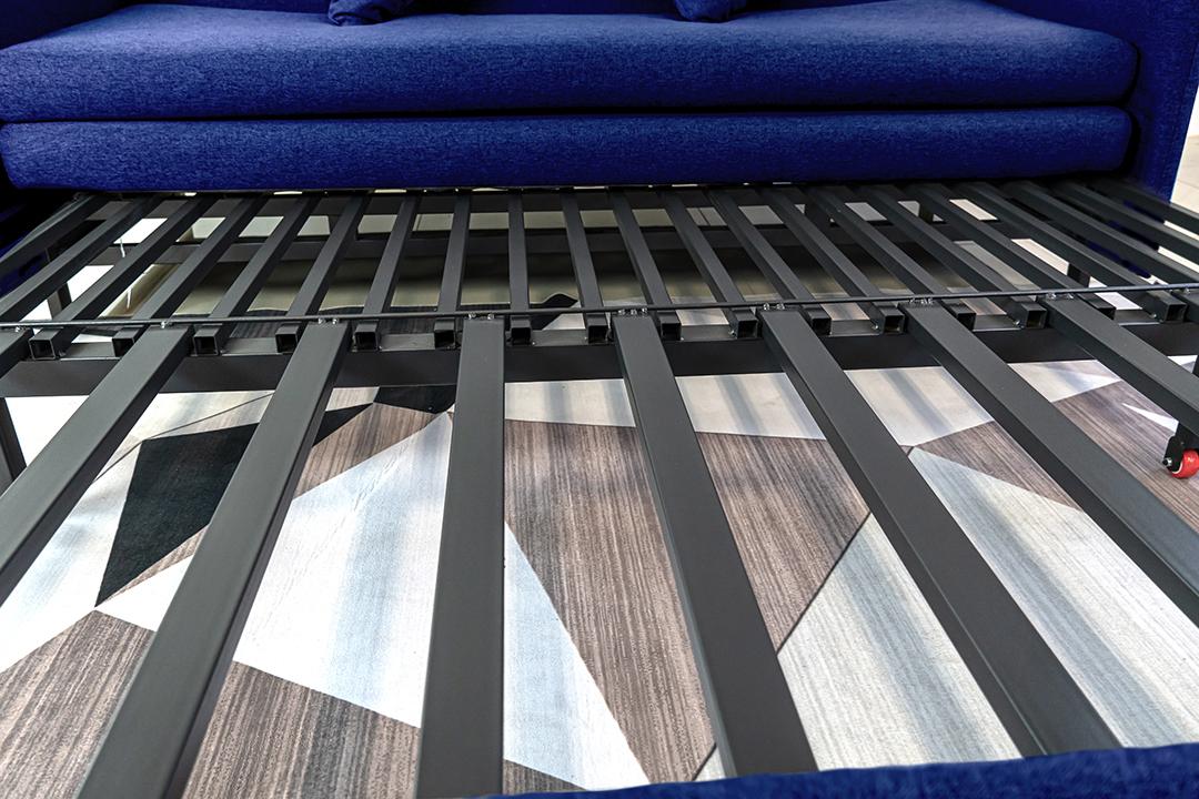 Sofa bed โซฟาเตียง 2ที่นั่ง ผ้าลินิน Sofa (170x90x75cm) Bed(170x190x35cm) สีฟ้า BHS-170/190-B