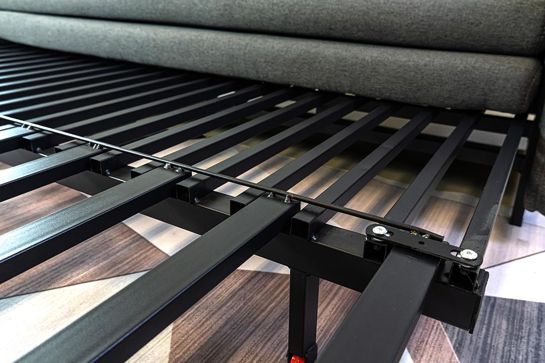Sofa bed โซฟาเตียง 2ที่นั่ง ผ้าลินิน Sofa (170x90x75cm) Bed(170x190x35cm) สีเทา BHS-170/190-G