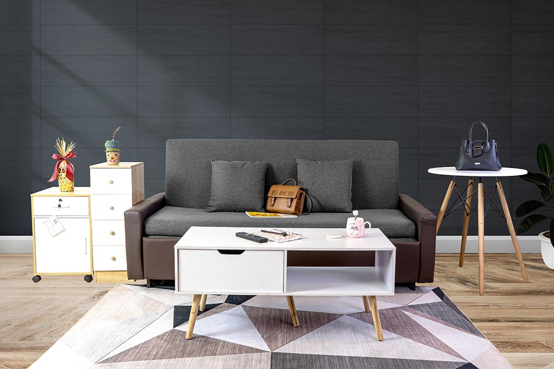 Sofa bed โซฟาเตียง 2ที่นั่ง ผ้าลินิน Sofa (180x90x75cm) Bed(180x190x35cm) สีเทา BHS-180/190-G