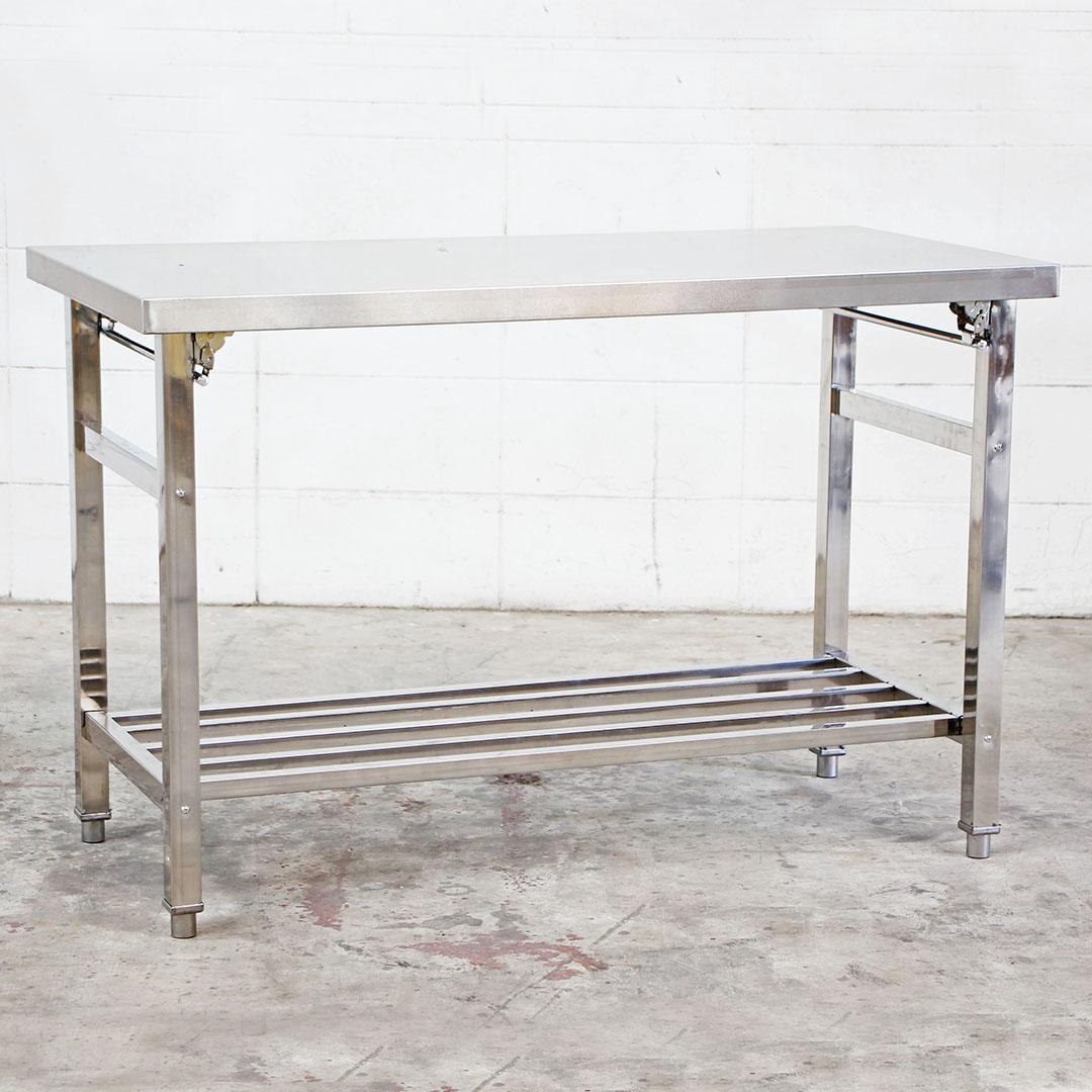 Stainless Steel Table โต๊ะครัวสแตนเลสพับได้ 120x60x80cm RT1905172-1