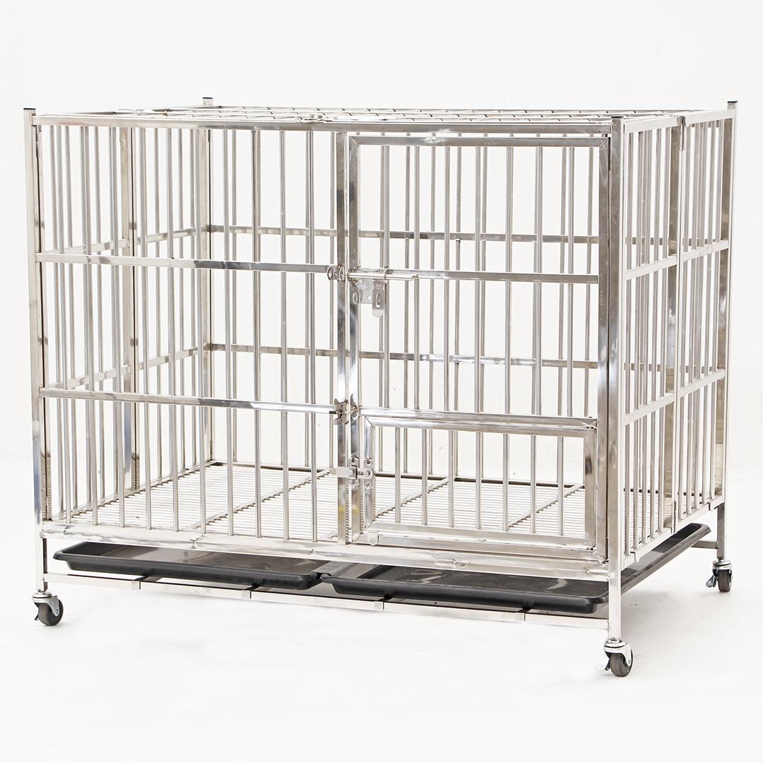 Stainless steel cage กรงสแตนเลสเกรด 201 108x70x92cm JSSR JC108