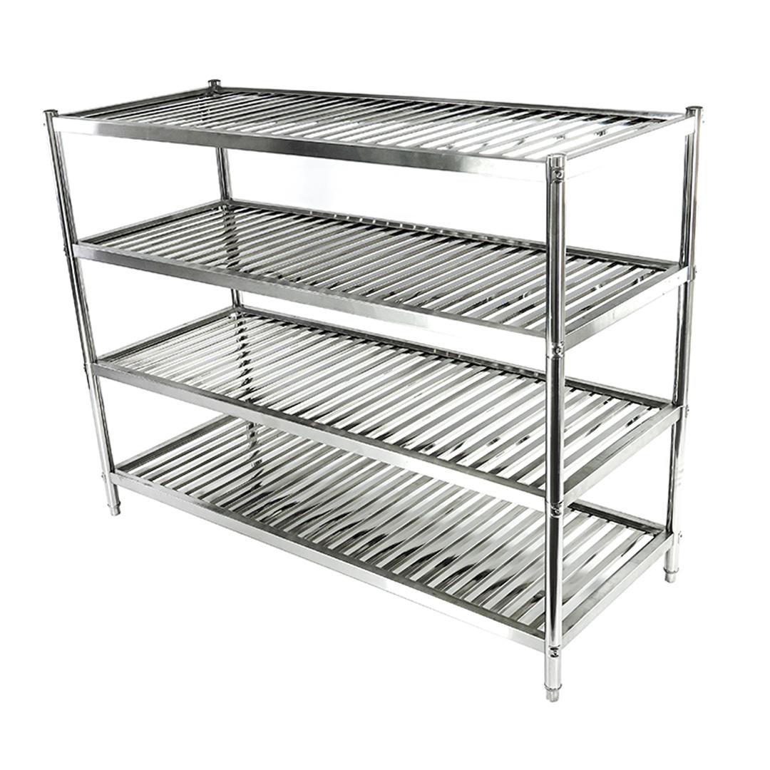 Stainless steel shelf ชั้นวางของสแตนเลส 4 ชั้น ขนาด 200x80x154ซม. รุ่น ST6114