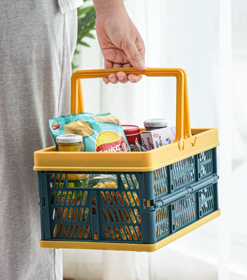 Storage basket ตะกร้าใส่ของพับได้ ขนาด 30x20x15cm ST210507-11