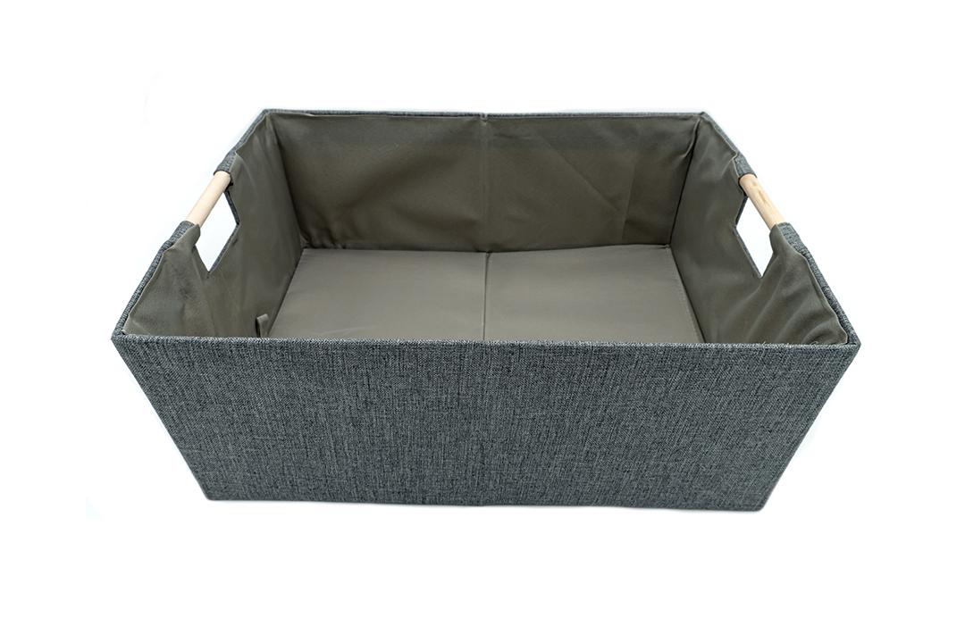 Storage box กล่องผ้าใส่ของอเนกประสงค์สีเทา ขนาด 42x31x17cm JR0420-36