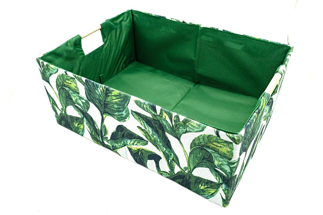 Storage box กล่องผ้าใส่ของอเนกประสงค์สีเขียว ขนาด 42x31x17cm JR0420-37