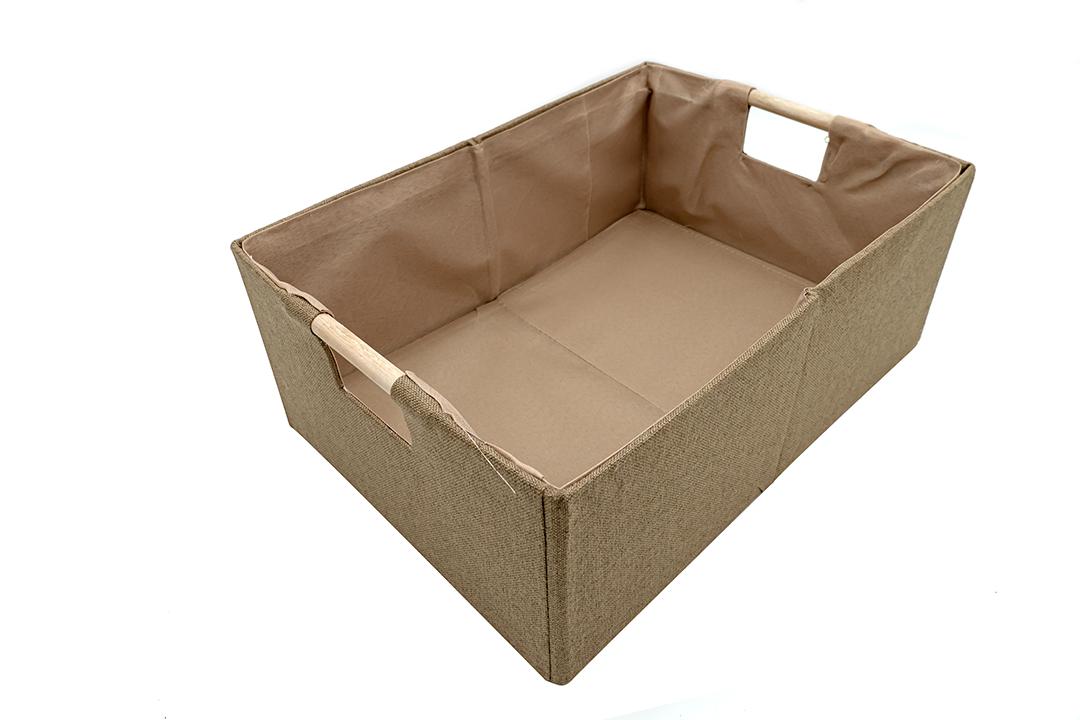 Storage box กล่องผ้าใส่ของอเนกประสงค์ สีน้ำตาล ขนาด 38x27x15cm JR0420-38