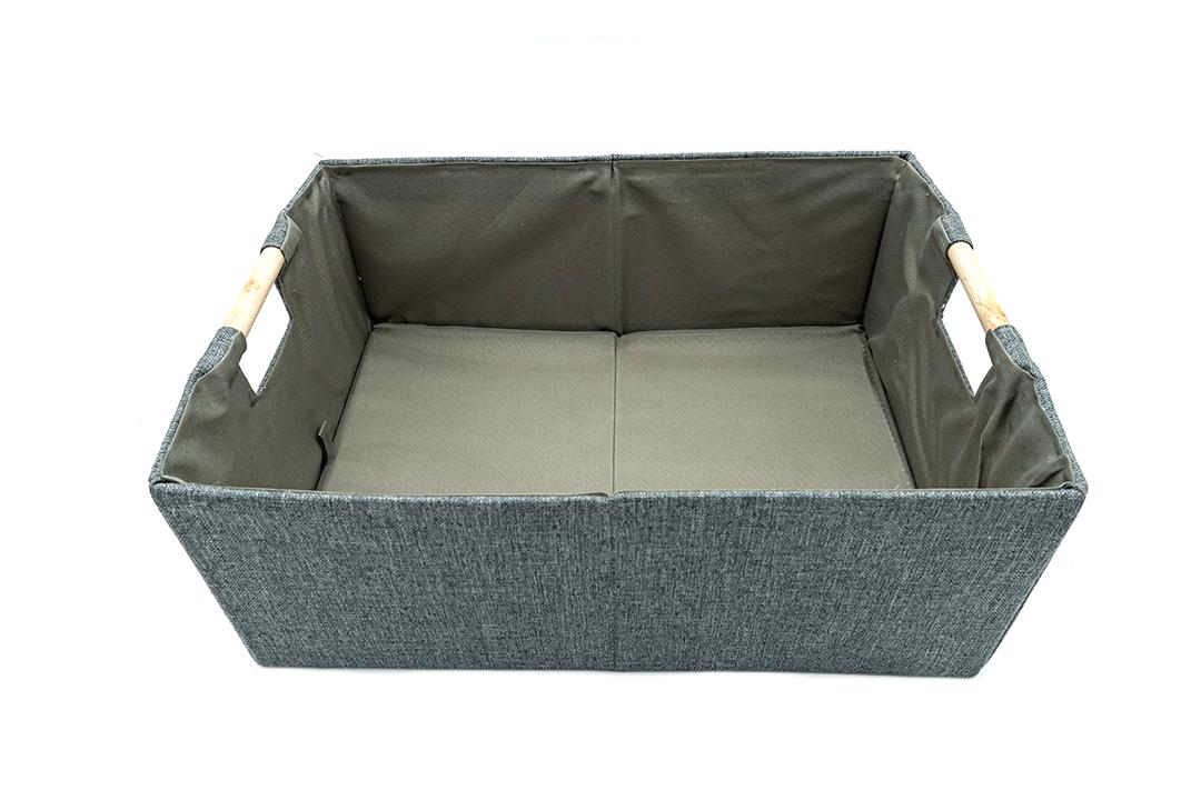 Storage box กล่องผ้าใส่ของอเนกประสงค์สีเทา ขนาด 38x27x15cm JR0420-39