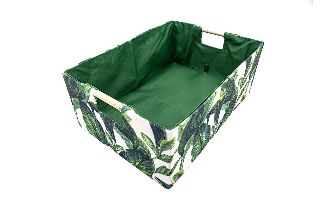 Storage box กล่องผ้าใส่ของอเนกประสงค์สีเขียว ขนาด 38x27x15cm JR0420-40