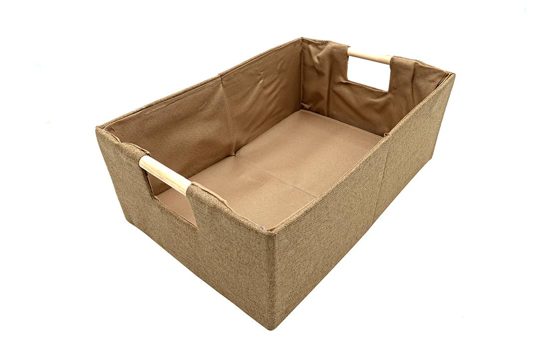 Storage box กล่องผ้าใส่ของอเนกประสงค์สีน้ำตาล ขนาด 34x23x13 cm JR0420-41