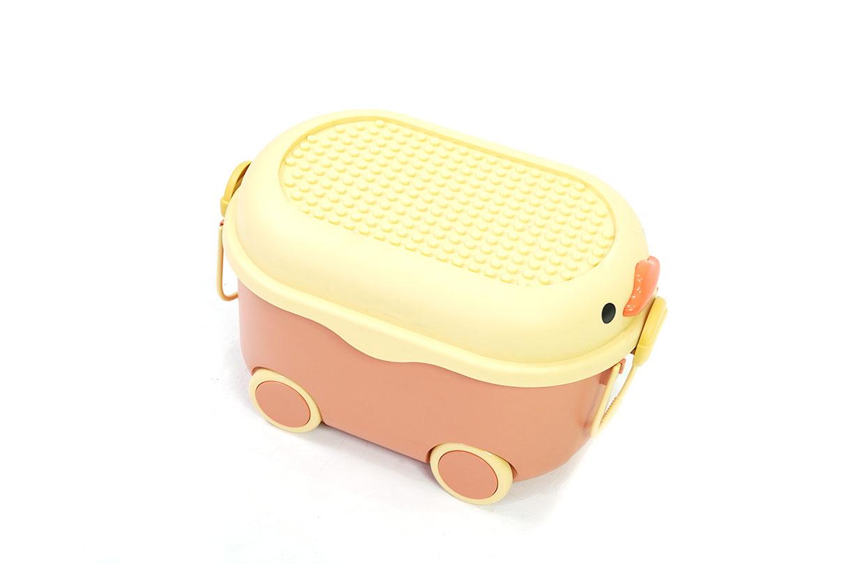 Storage box กล่องเก็บของพับได้ มีฝาปิด ขนาด 36x50.5x29cm สีฟ้า รุ่น ST210507-12BL