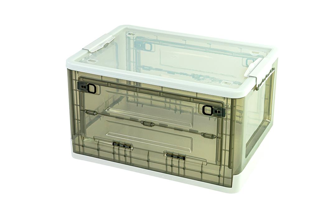 Storage box กล่องเก็บของพับได้ มีฝาปิด ขนาด 36x50x29cm สีขาว รุ่น ST210507-12W