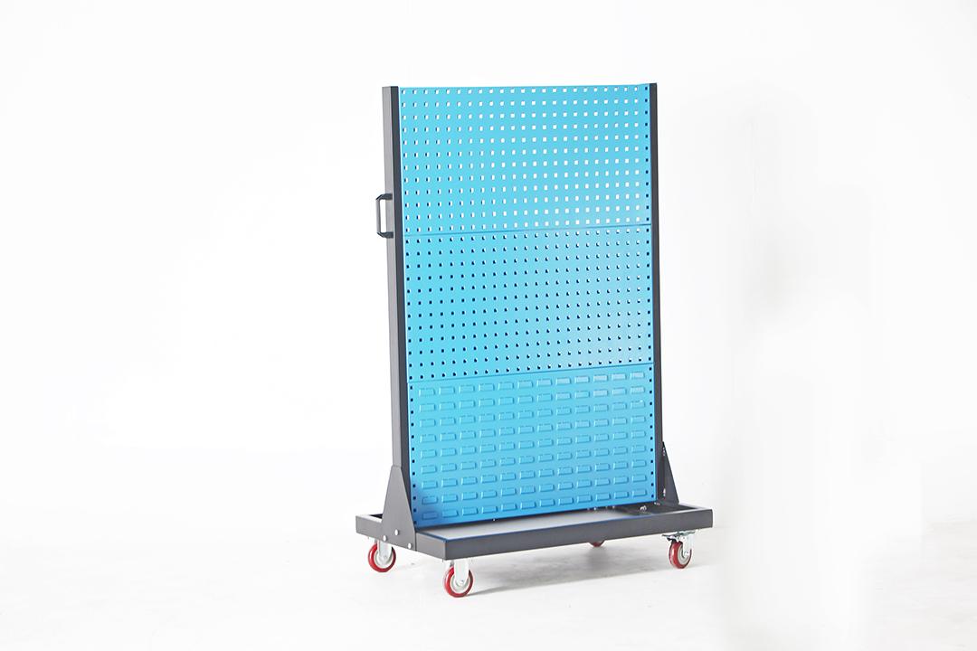 Tool Display Stand Double Sided แผงแขวนเครื่องมือตั้งพื้นมีล้อ แบบ2หน้า 96x61x156cm ST20034-2