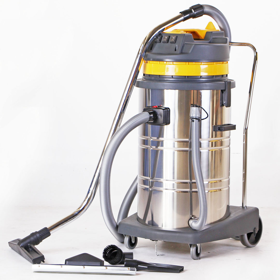 Vacuum cleaner เครื่องดูดฝุ่น 80ลิตร3000 วัตต์ มอเตอร์3ตัว 220V – 240V 50HZ/60HZ CB80-3 สีเหลือง