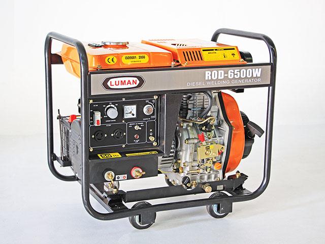 Welding Generator เครื่องเชื่อมพร้อมชุดปั่นไฟ 220V 5KVA 10HP 49x73x63cm LUMAN ROD-6500W